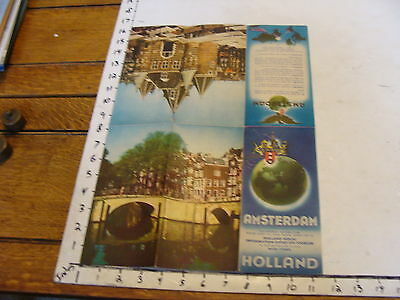 vintage Paper--AMSTERDAM HOLLAND map and brochure.