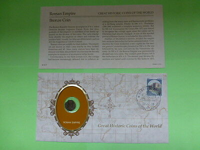 Roman Empire Great Historic Coins of the World Coin With Descriptive Sheet
