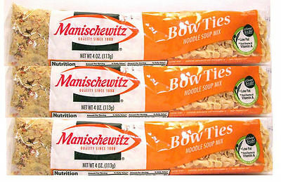 Manischewitz Bow Ties Noodle Soup Mix (4 oz Bags) 3 Pack