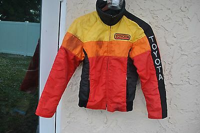Vintage Toyota Racing  Automotive  Orange Red Black  Men's Jacket Size S ?