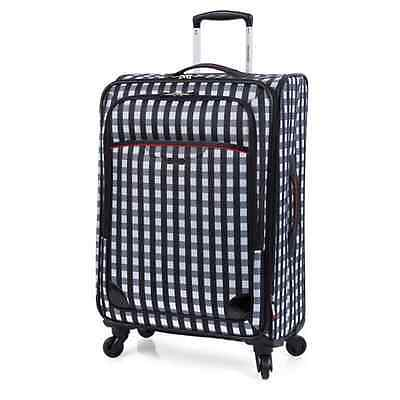 """RICARDO BEVERLY HILLS San Diego 28"""" Expandable Spinner Luggage Black/White $299"""