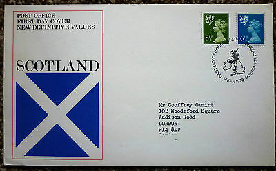 GB 1976 New Definitive Values Scotland FIRST DAY COVER bureau