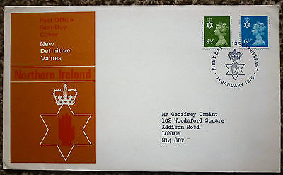GB 1976 New Definitive Values Northern Ireland FIRST DAY COVER  belfast