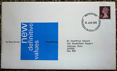 GB 1975 New Definitive Values FIRST DAY COVER bureau