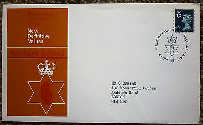 GB 1974 New Definitive Values Northern Ireland FIRST DAY COVER  belfast