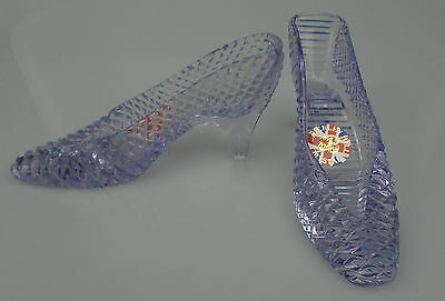 ~ CC ~ Brierley Hill ~ Lead Crystal ~ Pair ~ Slippers ~ 100% To Charity ~