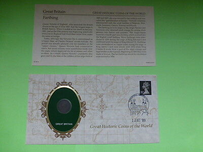 Great Britain Farthing Historic Coins of the World Coin & Descriptive Sheet
