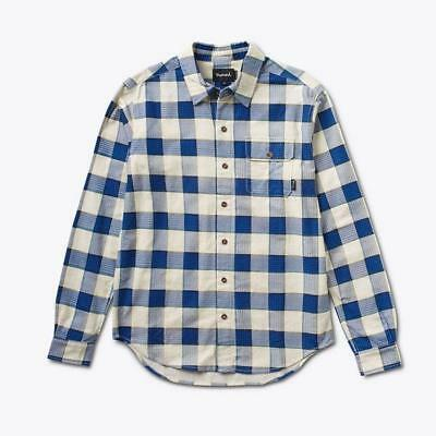 Diamond Supply Co. Holiday Flannel Plaid Shirt Navy