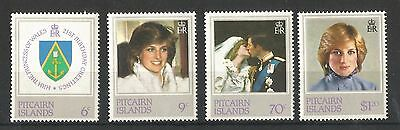 Pitcairn Islands 1982 Princess Of Wales 21St B/day Sg,226-229 Um/m Nh Lot 1510A