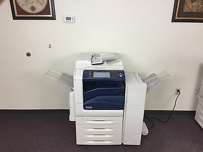 Xerox Workcentre 7545 Color Copier Machine Network Printer Scanner Fax Finisher