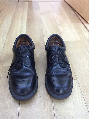 Black Dr Martens Women's Shoes  Made In England Rare Size 4 Black Leather