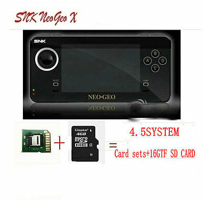SNK Handheld game console NEOGEO X limited version with Card set ,16GFT SDcard