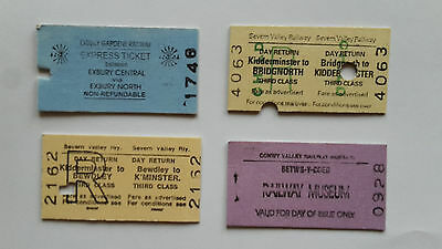 4 Different UK Preserved Railway Tickets