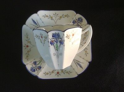 Shelley Blue Iris coffee cup and saucer (a)