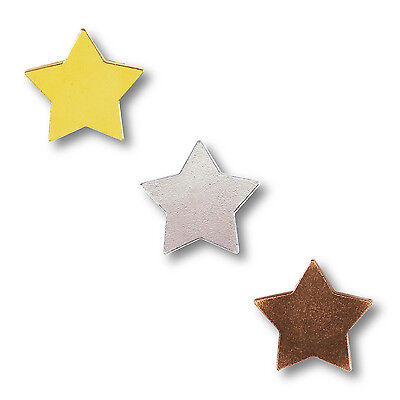 Classic Star Motivation Badges Gold, Silver and Bronze