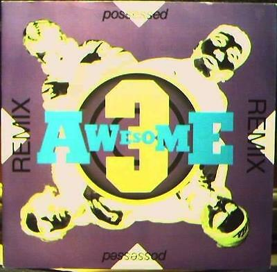 """Awesome 3 – Possessed (Remixes) 12"""" vinyl BREAKBEAT HOUSE 1991"""