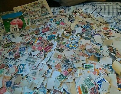 Huge amount of world &GB Kiloware  STAMPS off- On Paper -
