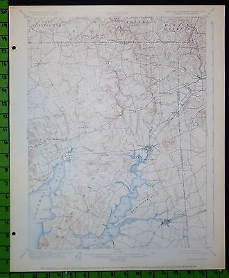 Elkton Chesapeake City Maryland 1926 Antique USGS Topographic Map 16x20