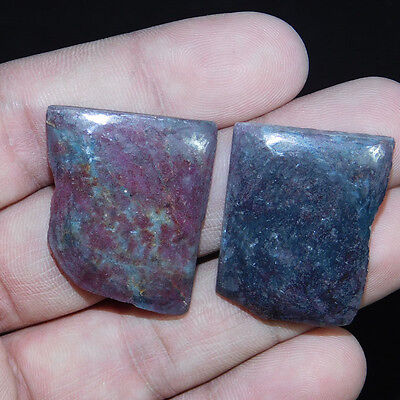 114.2Cts A+ ODDISA RUBY INDIAN 2 PC. Polished SLICE Slab Lapidary Rough Mineral