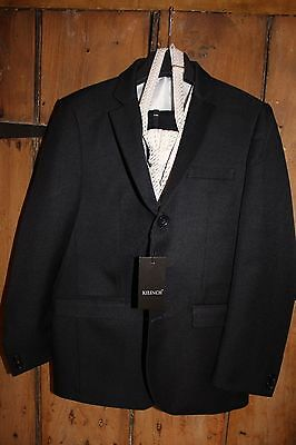Was £60 - Boys NAVY/IVORY 5 Piece Designer Suits Last Few Age 9 YEARS