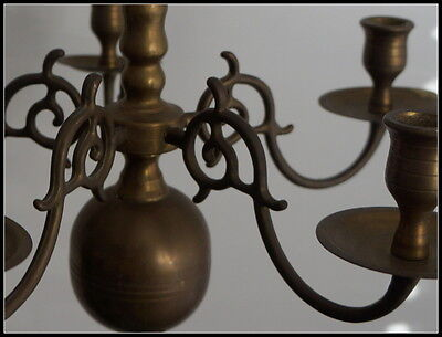 Small (Miniature) Antique Bronze/Brass chandelier candleholder candelabra 19th c