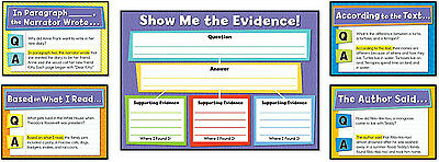 Evidence-Based Reading and Writing Bulletin Board Display Set teacher decoration
