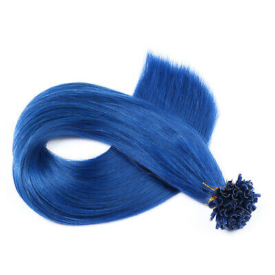 # Blue Keratin Bonding Extensions 100% Remy Hair Echthaar Haarverlängerung