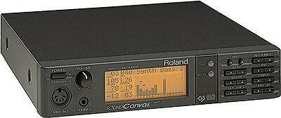 Roland Sc-55 Sound Canvas Midi Synthesizer Sound Module & Power Supply