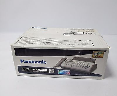 New Panasonic Kx-Fp215E Compact Plain Paper Fax With Digital Answering System