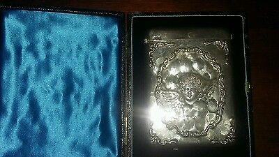 Solid silver antique card case by William Neale Chester 1899
