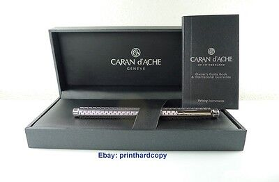 Caran d' ACHE Silver-plated, rhodium-coated ECRIDOR TYPE 55 fountain pen