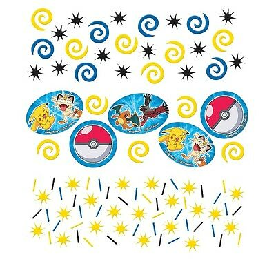 Pokemon | Pokeball | Pikachu | Meowth Party Table Confetti | Decoration 1-5pk