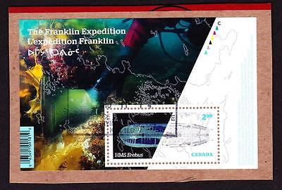 Canada 2015 souvenir sheet used sc# 2853 Franklin Expedition