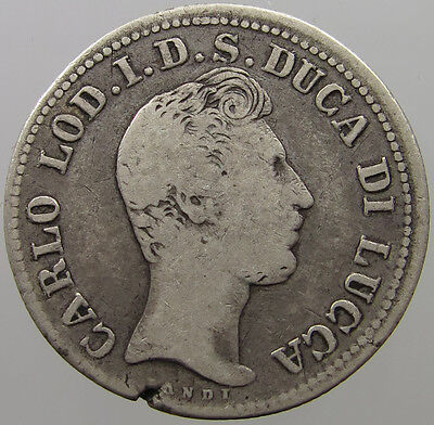 Italy Lucca 2 Lire  1837 #t9 335
