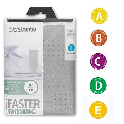 Brabantia Silver Heat Resistant Replacement Cotton Ironing Board Cover A B C D E