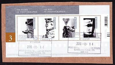 Canada 2015 souvenir sheet used sc# 2815 Canadian Photography