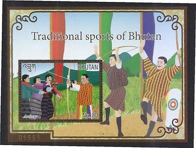 Bhutan 2015 Traditional Sports Souvenir Sheet Of 1 Stamp In Mint Mnh Unused