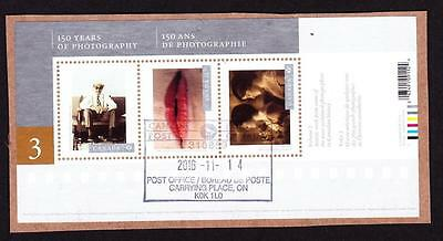 Canada 2015 souvenir sheet used sc# 2814 Canadian Photography