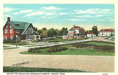 Omaha, NB / One of the Beautiful Residence Streets / circa 1920's / Lot H467