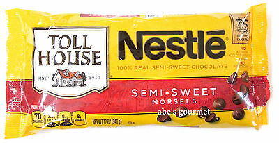 Nestle Toll House 100% Real Semi-Sweet Chocolate Morsels (Pack of 3) 12 oz Bags