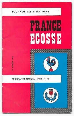 1963 - France v Scotland, Five Nations Match Programme.