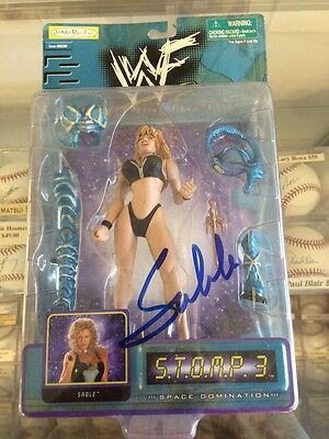 Sable autographed WWF STOMP Series 3 Action Figure WWE Hot