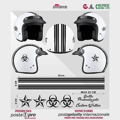 Kit NERO Biohazard Stella STICKER CASCO ADESIVO DECAL MOTO SCOOTER HELMET