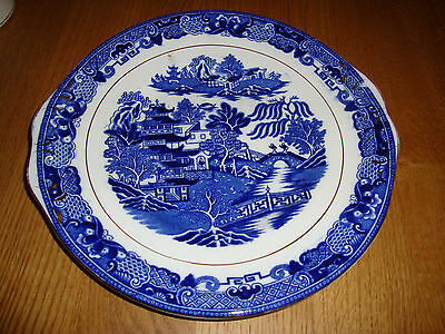 Vintage Blue / White  Willow Pattern Large Plate
