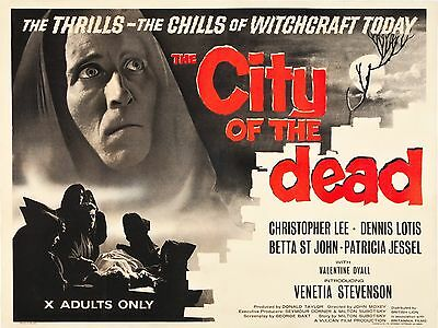 "City of the Dead 16"" x 12"" Reproduction Film Poster Photograph"
