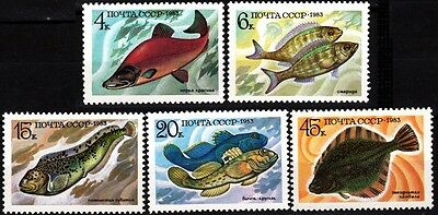 USSR (RUSSIA) 1983 Fauna: Fishes (**)
