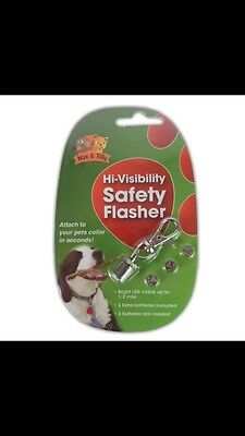 Safety Collar Flasher - Pet Lights Visibility Tag LED Light Night Flash Cat New