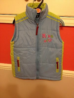 Blue And Green Body Warmer/ Gillet Age 8