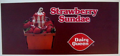 Dairy Queen 1980 colorful transparency from Menu board Strawberry Sundae