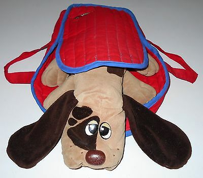 Vintage POUND PUPPY/PUPPIES BACKPACK Red Blue